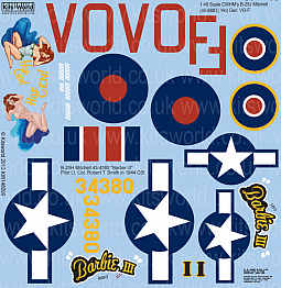 Kitsworld Kitsworld  - B-25 Mitchell 1/48 Scale Decal Sheet KW148099