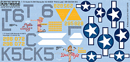 Kitsworld Kitsworld  - 1/72 Scale Decal Sheet B-26B Marauder KW172076