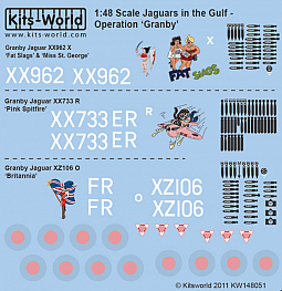 Kitsworld Kitsworld 'Jaguars' -  1/48 Scale Decal Sheet  KW148051 Operation Granby