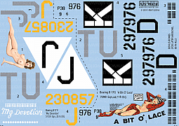 Kitsworld Kitsworld B17 F/G Flying Fortress - 1/32 Scale Decal Sheet
