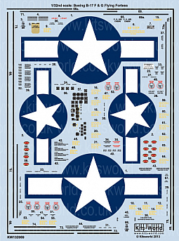 Kitsworld Kitsworld  - 1/32 Scale Boeing B-17 F/G Flying Fortress Decal Sheet