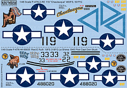 Kitsworld Kitsworld  - 1/48 Scale Decal Sheet P-47 Thunderbolt