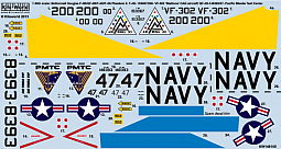 Kitsworld Kitsworld  - 1/48 Scale Phantom F4-B Decal Sheet KW148105