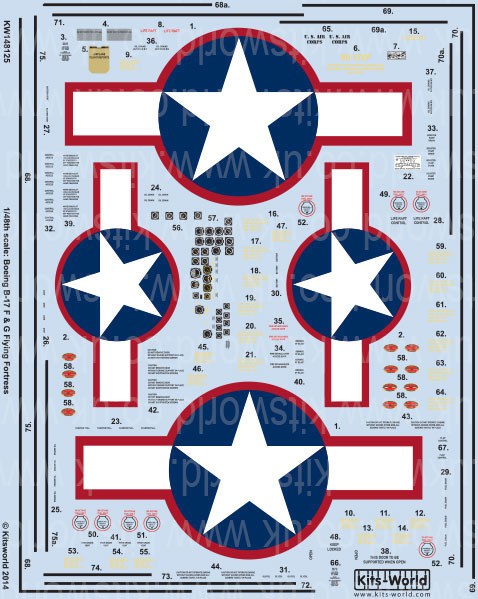 Kits-World decals 1//32 Boeing B-17F featuring Two Beauts KW132082