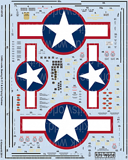 Kitsworld Kitsworld  - 1/48 Scale Decal Sheet B-17 F/G