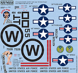 Kitsworld Kitsworld  - 1/72 Scale Decal Sheet B-29 Super Fortress KW172073