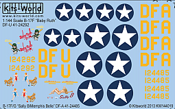Kitsworld Kitsworld  - 1/144 B-17F/G Scale Decal Sheet KW144019 B-17F/G