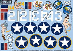 Kitsworld Kitsworld  - 1/32 Scale Decal Sheet P-40 Warhawks KW132037