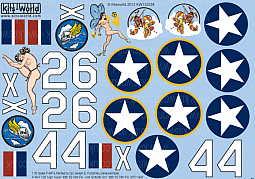 Kitsworld Kitsworld  - 1/32 Scale Decal Sheet P-40 Warhawks KW132038