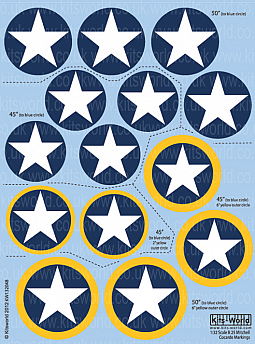 Kitsworld Kitsworld  - 1/32 Scale Decal Sheet B-25 Mitchell