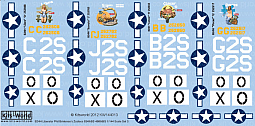 Kitsworld Kitsworld  - 1/144 Scale Decal Sheet B-24 Liberators KW144013