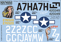 Kitsworld Kitsworld  - 1/48 Scale Decal Sheet P-47 Thunderbolts
