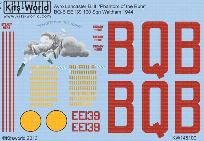 Kits monde decals 32049 1:32 Avro Lancaster général marques