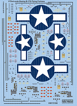 Kitsworld Kitsworld  - 1/72 Scale Boeing B-17F/G Decal Sheet KW172188