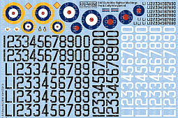 Kitsworld 1/72 Pre & Early WWII Serial and Cocarde Markings- 1938 – 1940.