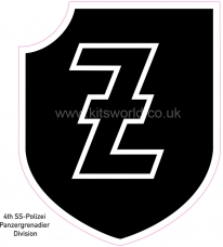 Kitsworld Self-adhesive vinyl transfers  Waffen SS -  4th SS Polizei Panzergrenadier Div
