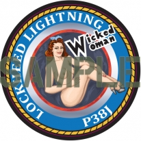 Kitsworld Kitsworld  - Coaster Design Wicked Woman P38J 100mm Round MDF Corked Back Coaster