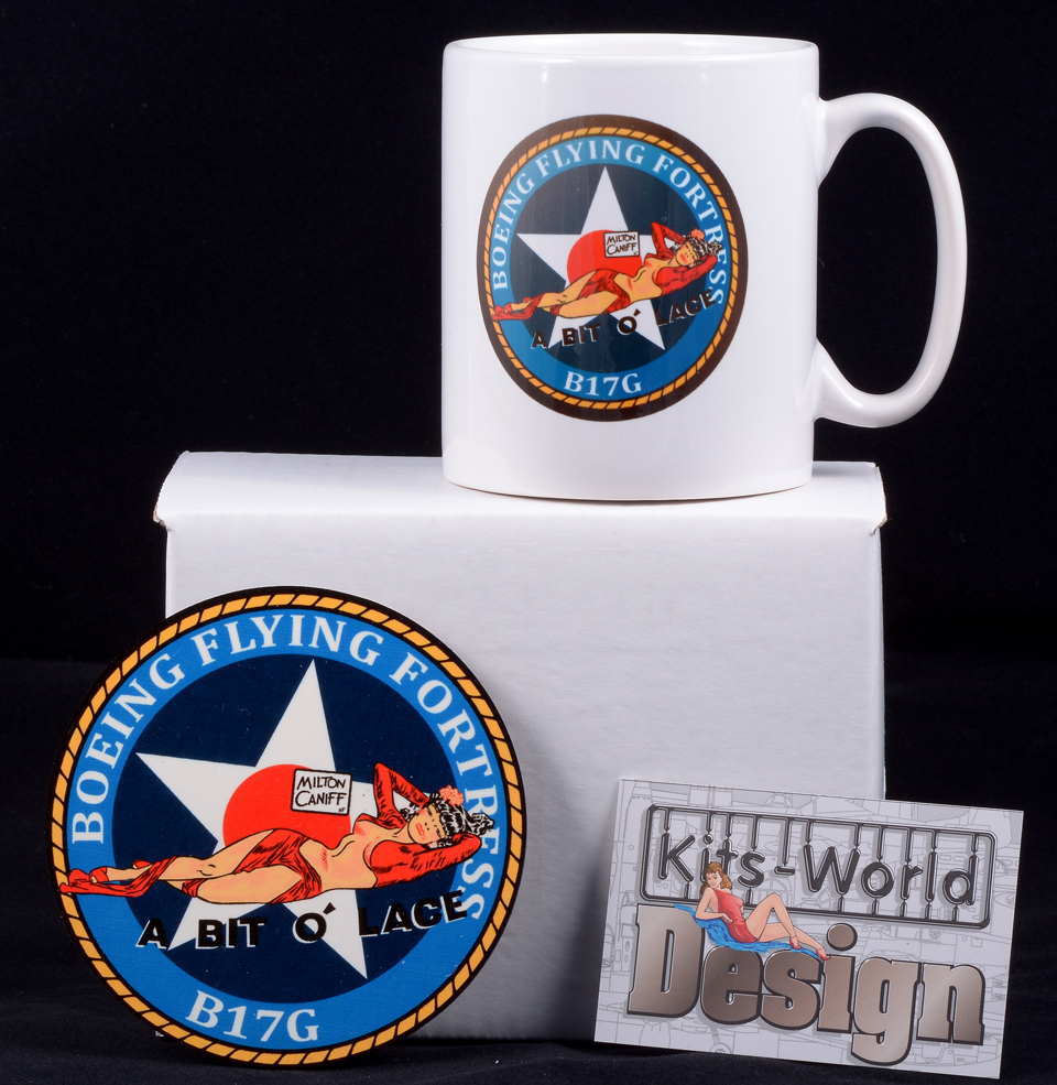 Made in the USA P-38 Lightning Coaster Set
