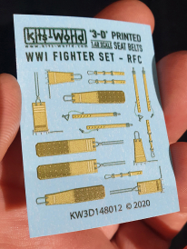 Kitsworld WWI Fighter Set - Royal Flying Corps and the Royal Naval Air Service Seat Belt KW3D148012 WWI Fighter Set - Royal Flying Corps and the Royal Naval Air Service Seat Belt Set