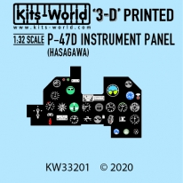 Kitsworld Kitsworld  - 1/32 Scale P-47 Cockpit Instrument Panel KW33201 P-47 Cockpit Instrument Panel (HASAGAWA FIT