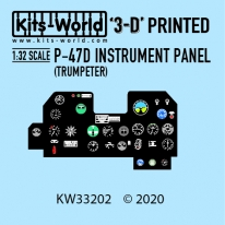 Kitsworld Kitsworld  - 1/32 Scale P-47 Cockpit Instrument Panel KW33202 P-47 Cockpit Instrument Panel (TRUMPETER FIT)